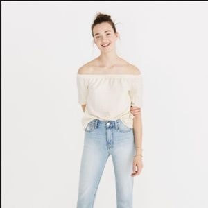 Madewell off-the-shoulder texture top